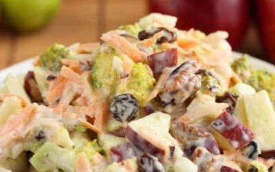 ENSALADA de Brócoli con MANZANA y nueces